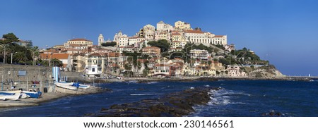 the beautiful Ligurian town of Porto Maurizio,Imperia during summer