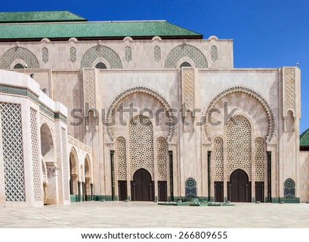 the beautiful  mosque Hassan second, Casablanca, Morocco
