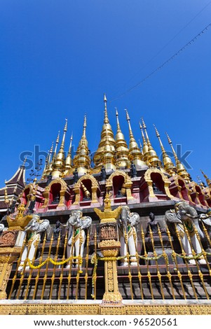 The beautiful pagoda in northern Thailand.