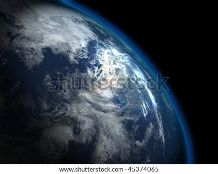 The beautiful planet Earth from the space, some more in my portfolio - stock photo
