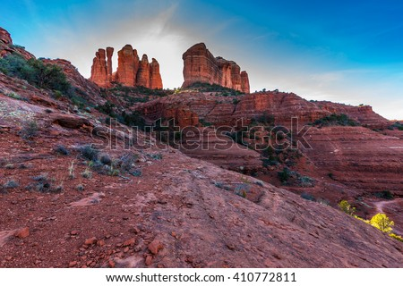 The beautiful red rocks of Sedona, Arizona in the desert Southwest
