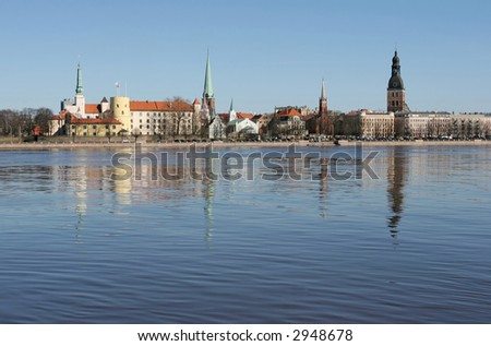 The beautiful Riga city (Latvia). - stock photo