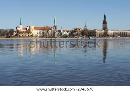 The beautiful Riga city (Latvia). - stock photo