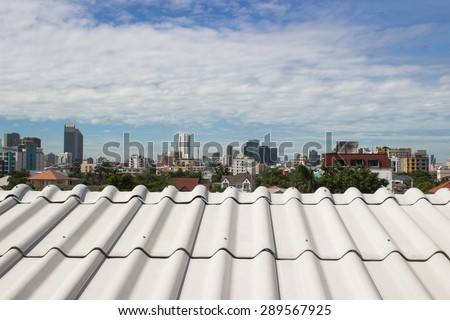 the beautiful roof of house and sky background  - stock photo