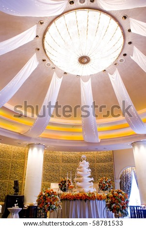 The beautiful room for wedding party - stock photo