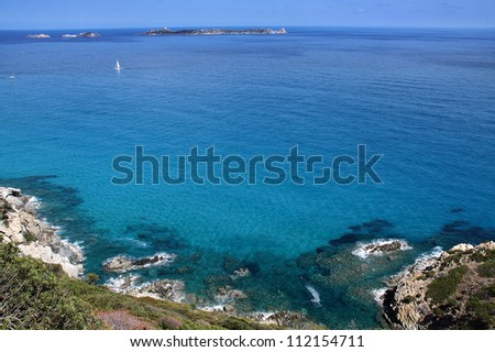 The beautiful sea of Sardinia island - Italy - stock photo