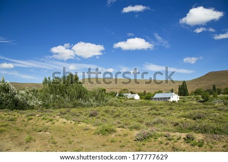 The beautiful town of Nieu Bethesda in South Africa - stock photo