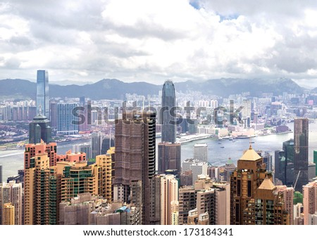 The beautiful view of Hong Kong, China