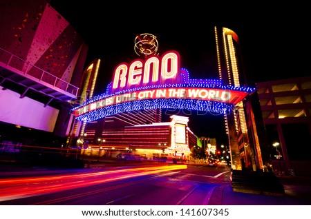 The Beautiful view of Reno - stock photo