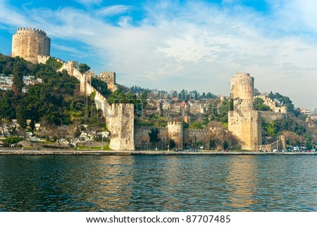 The beautiful View of Rumeli Fortress, Istanbul, Turkey. - stock photo