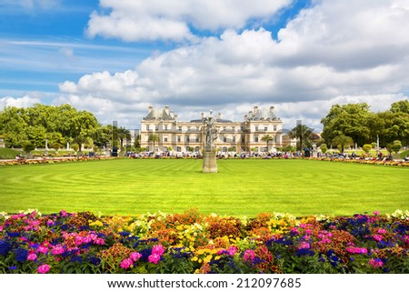 The beautiful view of the Luxembourg Gardens in Paris, France - stock photo