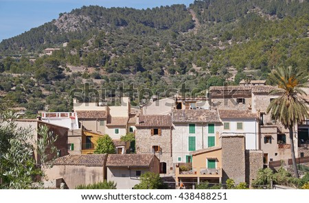 The beautiful village of Estellencs tucked into the Tramuntana mountains on the western coastline of Mallorca