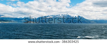 The beauty of Chile | Beagle channel, Tierra del Fuego, Patagonia, Chile / Argentina - stock photo