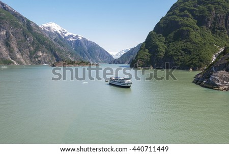 The Beauty of North America | Alaska: Tracy Arm Fjords, Alaska, United States - stock photo