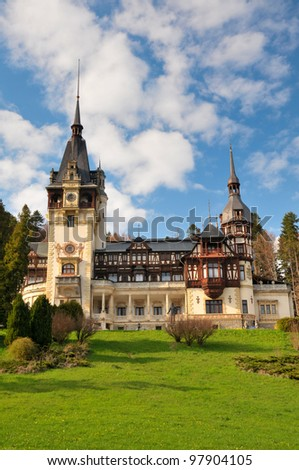 The beauty of Peles Castle from Sinaia - Romania
