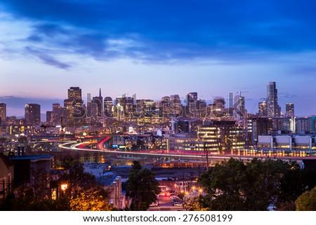 The beauty of San Francisco Skyline - stock photo