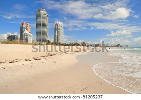 The beauty of South Beach in Miami. - stock photo