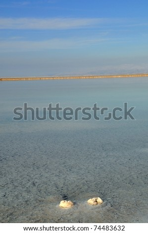 The beauty of the dead sea - stock photo