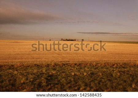 the beauty of the midwest as seen from a train - stock photo