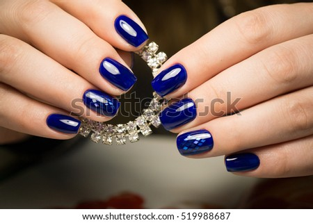 Beauty Natural Nails Perfect Clean Manicure Stock Photo (Royalty ...