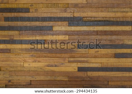 The beauty of the wall, built of wood. - stock photo
