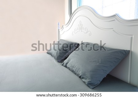 The bed in my room for decorate