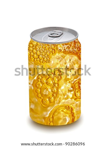 The Beer can isolated on white background