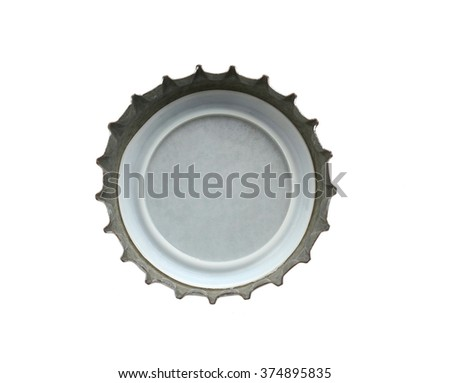 the beer cap on symbolic - stock photo