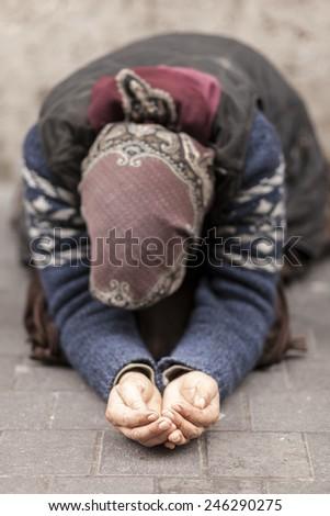 The Beggar - stock photo