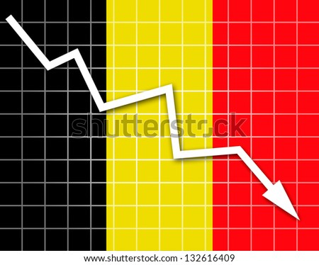 The Belgian flag and arrow graph going down