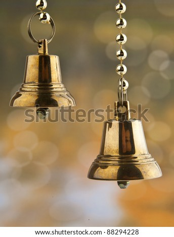 the bells on the abstract background