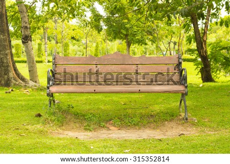 The Bench For Sit In Garden.