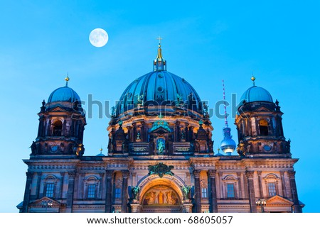 The Berlin Cathedral and the TV-Tower - stock photo