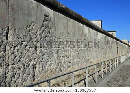 The Berlin Wall, a historical place in history - stock photo