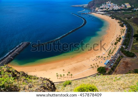 the best beach of Tenerife - Playa Las Teresitas, Canary Islands, Spain