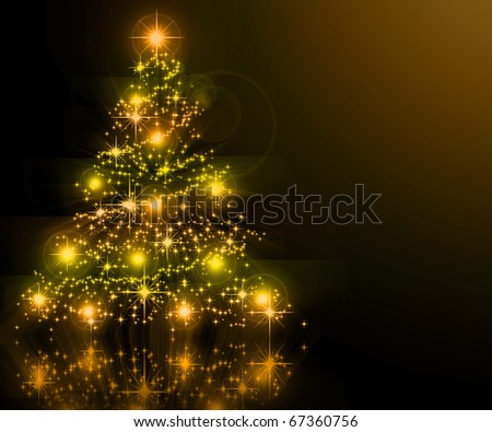 The best Christmas golden tree background