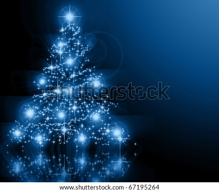 The best Christmas tree background - stock photo
