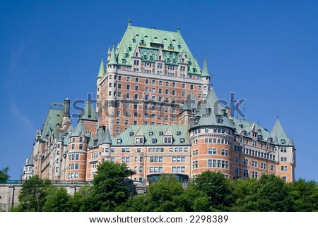 The best known building in Quebec city. - stock photo