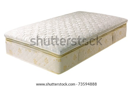 The best quality of the material mattress isolated on white - stock photo