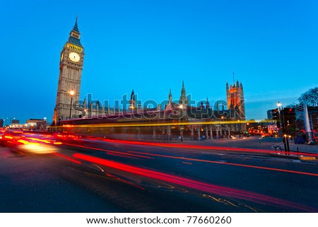 The Big Ben and houses of parliament, London, UK. - stock photo