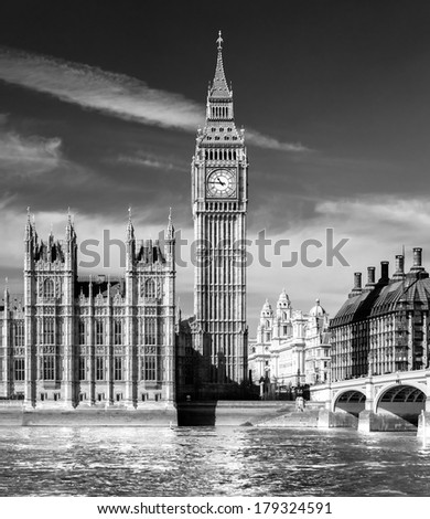 The Big Ben, London, UK. - stock photo