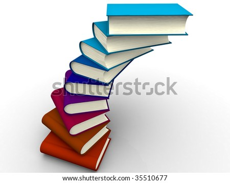 The big book on a white background - stock photo