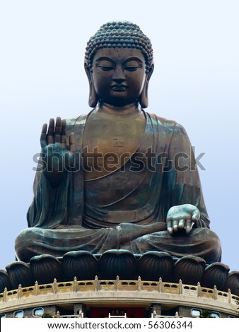 The Big Buddha in Hong Kong - stock photo