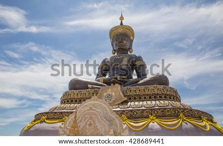 The Big Buddha(phraphuthth- mha-thrrm-racha) at phetchabun province,Thailand. - stock photo