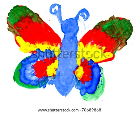 Drawing Photo Colour Colourful Wings Drawing by