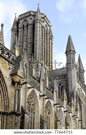 the big cathedral in Coustanses france