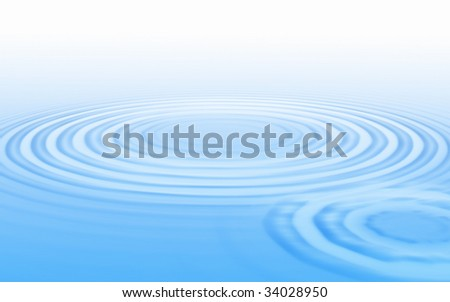 The big circles on an equal smooth surface of water