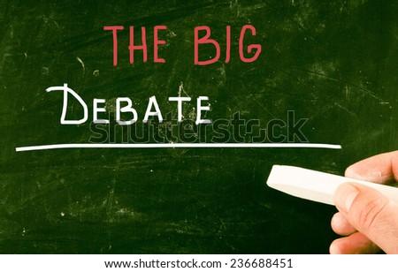 the big debate - stock photo