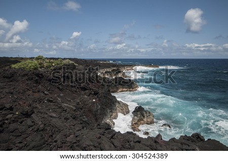 The Big Island coastline, Hawaii - stock photo