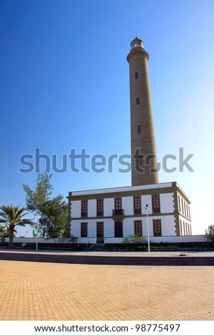 the big lighthouse in  Maspalomas ,Gran Canaria in Spain